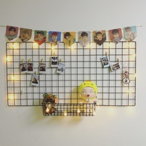 Grid photo wall simple iron photo frame hanging wall set iron frame clip hanging photo wall ins heart-shaped decoration