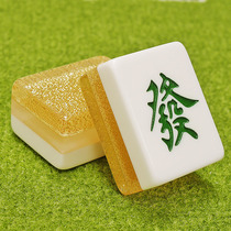Mahjong majiang crystal gold wire mahjong home hand rubbing large local gold mahjong