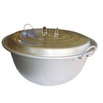 Outdoor camping aluminum marching large pot firewood pot lamb soup pot cooking class 52-84cm with lid hanging pot