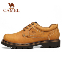 Camel outdoor mens shoes casual comfortable mens shoes fashion tooling shoes leather daily casual shoes big yellow shoes