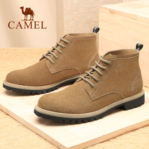 Camel mens shoes 2018 autumn and Winter new mens boots fashion tooling shoes boots leather tide Martin boots outdoor casual boots men
