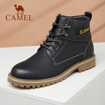 Camel mens boots 2018 autumn and Winter new trend of leisure mens Martin boots leather high shoes boots mens wear boots