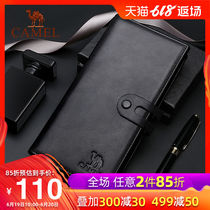 Camel 2019 New mens wallet long leather bag multi-functional business casual mens wallet