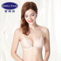 An Li Fang ladies lace triangle Cup underwear thin section no trace no steel ring gathered bra EBW0045