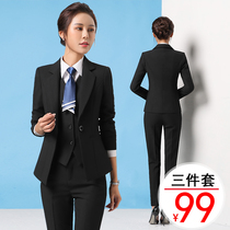 Suit Suit female three-piece suit small suit college student interview lady dress professional suit female temperament