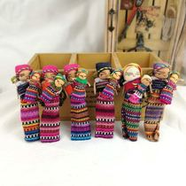 Doll art housewife worry-free Guatemalan refrigerator stickers woven cloth new handicrafts