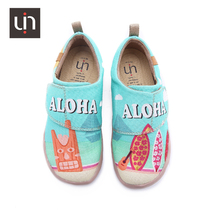 uin painted childrens shoes U printed 2019 summer new large children wild canvas shoes casual shoes lightweight travel shoes