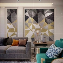 (Dihao) custom hand-painted mosaic abstract puzzle puzzle Xuan living room hotel restaurant KTV background wall.