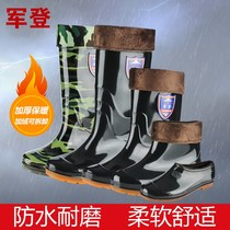 Shoes waterproof rain non-slip thickening wear-resistant bottom adult rain shoes men Rain Rain Rain Boots female Korean army green