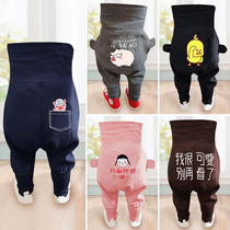 Thin section baby pants spring and autumn baby harem pants big PP pants summer children high waist belly boy girls children