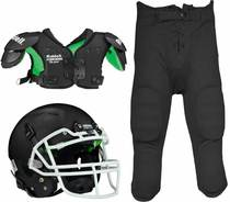 Rugby Football Junior six three-piece suit with football helmet armor pants