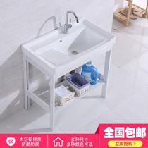 Ceramic laundry basin floor space aluminum stainless steel bracket balcony wash wash basin belt rubbing plate laundry tank pool