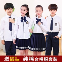 National Day childrens chorus costumes costumes primary and secondary school poetry recital chorus host dress school uniform suit