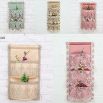 Single pocket double pocket three pocket hanging door after the storage of high-end lace storage bag fabric storage bag