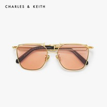 CHARLESKEITH fall new product CK3-11280374 metal Fashion Square ladies sunglasses