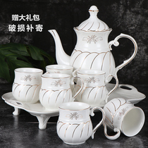 Water set ceramic cup set home living room Cup simple European-style heat-resistant tea cup cold water pot