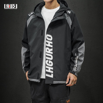2020 spring new trend Korean version of loose clothes mens big yards baixilianmao Tide brand function ins jacket male