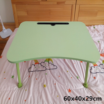 Simple laptop desk childrens bed with a collapsible lazy student dormitory learning desk taller legs