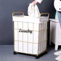 Dirty basket laundry basket Nordic simple household clothes toys storage basket bathroom iron with cover dirty clothes bucket