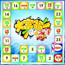 To paste monopoly to paste the Spring Festival celebration bonus promotional props development training flying chess can be customized
