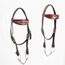 Horse dragon set reins horse cage head pure hand-woven water le reins leather horse chewing a full set of horse tools.
