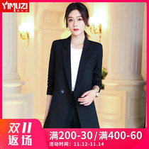 Black suit jacket women autumn and winter fashion Korean version of the long shirt casual net red suit suit occupation