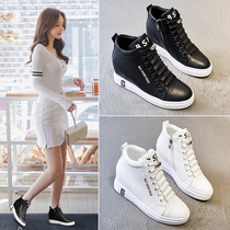 2019 nouvelle augmentation de chaussures pour femmes Gao Bang white shoes femme version coréenne de The Wild was thin slope with sports shoes