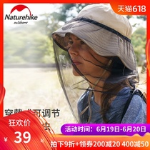 NH Norway anti-mosquito headgear fishing sunscreen net yarn Mask Anti-Bee beekeeping cap fishing mountaineering net cover headgear net cap