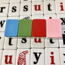 Children mahjong tiles shaking sound with the English word mahjong English alphabet mahjong parent-child students mahjong cartoon