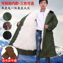 Sheepskin coat sheepskin wool one cotton coat wool leather warm winter clothing thick cotton coat male Winter