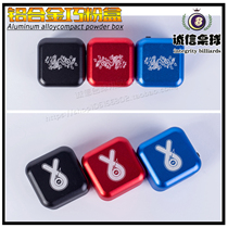 New aluminum alloy Qiao G clip billiard Qiao powder box metal magnetic snooker pool square Qiao powder universal