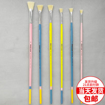 6 sticks of garcken bristle fishtail fan pen color pen water powder acrylic oil painting pen