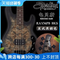 Sterling by Musicman RAY34PB BKS Electric Bass 4 String Bass Rock Metal Bass