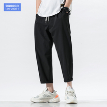 Summer mens Korean version of the trend of straight casual pants loose pants pants fat pants plus fertilizer to increase the size of pants