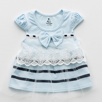 New girls summer skirt 0-1-2 years old baby dress clothes baby short sleeve princess dress