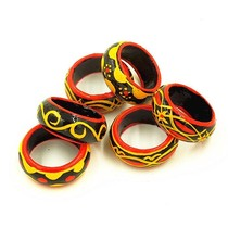 Sichuan Liangshan minority characteristics crafts evil mysterious ring Zhaojue Yi lacquer