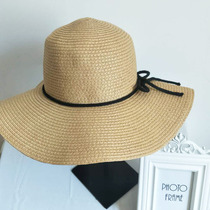 29cb857f Big brim hat lady sunscreen straw hat collapsible sun hat beach vacation sun  hat foreign trade