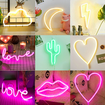 Neon decoration ins love lights trunk surprise birthday creative confession LOVE lights red lights small lights