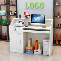 Cashier counter simple modern reception desk clothing store beauty salon supermarket small cashier new