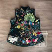 Cloud Jewelry Totem Original design Womens horse clip national Wind hand-embroidered hundred birds chaofeng Chinese hundred vest shoulder