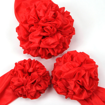 Big red flower ball car new car delivery car big red flower Award red cloth opener cloth ribbon Flower Ball opening celebration