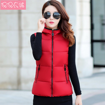 2018 autumn and Winter new womens coat cotton vest Korean slim hooded students padded padded vest