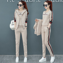 2019 new womens autumn fashion early autumn temperament foreign casual sportswear suits spring and Autumn Sweater three-piece suit
