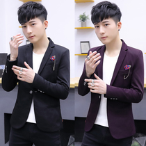LES handsome T small mens short man S XS size small suit slim short suit Men Korean version of the jacket