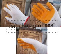 Oil resistant gloves wood wax oil construction to protect hands from oil pollution
