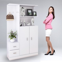 Special offer simple multi-functional hall cabinet shoe cabinet coat cabinet shoe stool combination entrance partition cabinet shelf storage cabinet