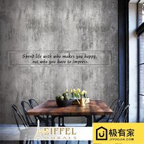 3D retro industrial wind old wallpaper bar KTV Cafe Tea Shop non-woven gray cement brick pattern wallpaper