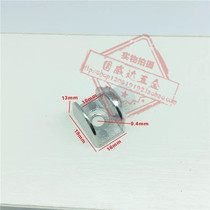 Glass clip Sembroal alloy glass plate support wood plate laminate clamps fixed clip self-tapping clip 10mm.