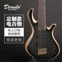 Derulo custom models professional bass custom electric bass six string electric bass electric bass