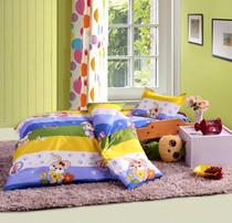 Kindergarten cotton childrens bedding three-piece kit five-piece quilt quilt cover mattress cover pillowcase